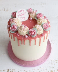 Mother's Day Roses Drip Cake