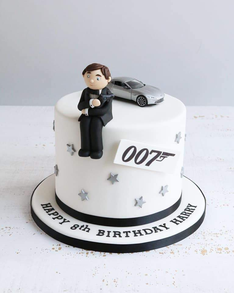 Fondant James Bond Birthday Cake