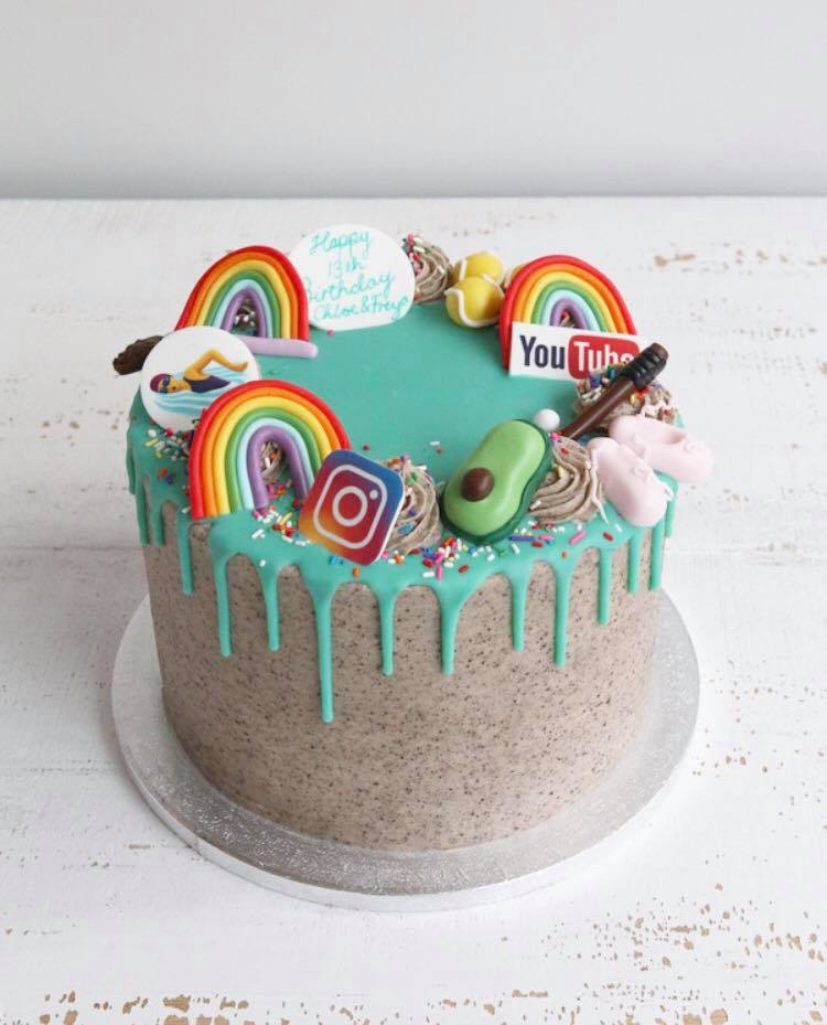 Favourite Things and Rainbows Drip Cake
