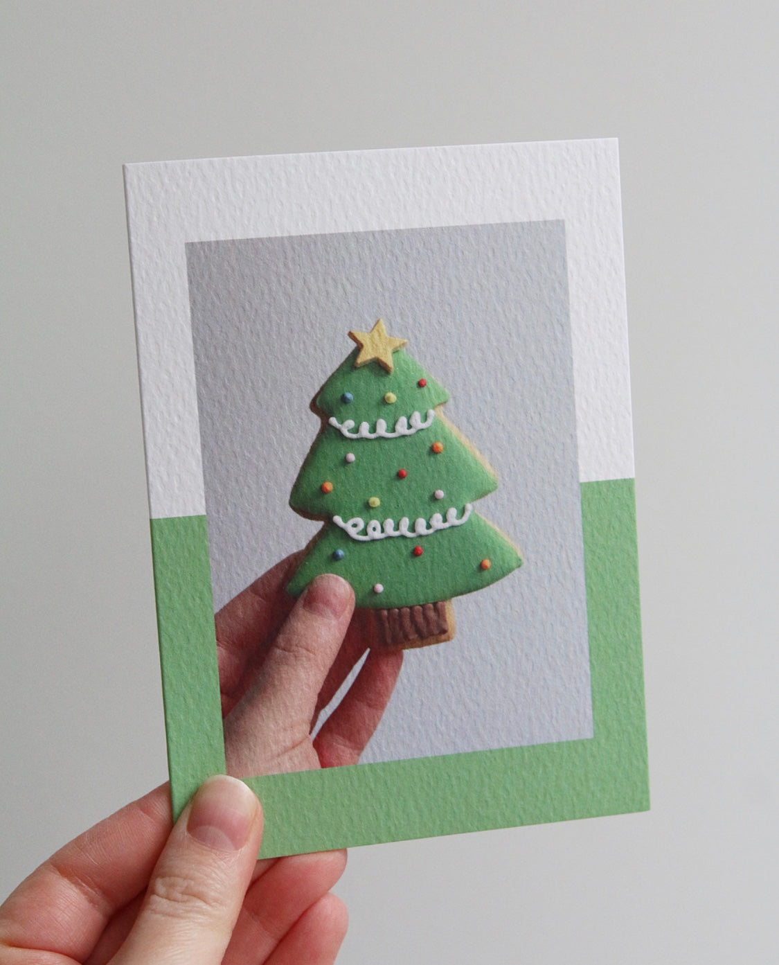 Christmas Tree Biscuit Photo Christmas Card