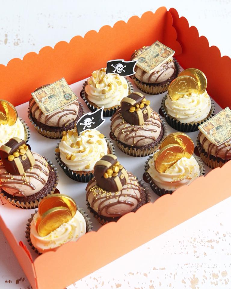 Box of Pirate Cupcakes