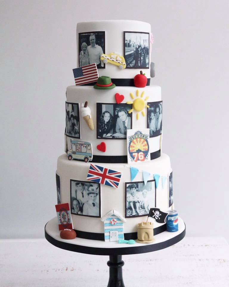 Remarkable Adult Milestone Birthday Cakes Afternoon Crumbs Claygate Surrey Personalised Birthday Cards Epsylily Jamesorg