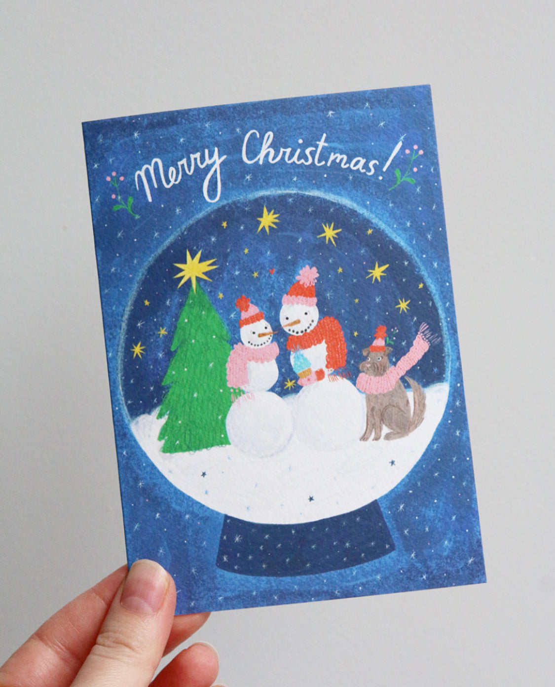 Merry Christmas Snowpeople Card