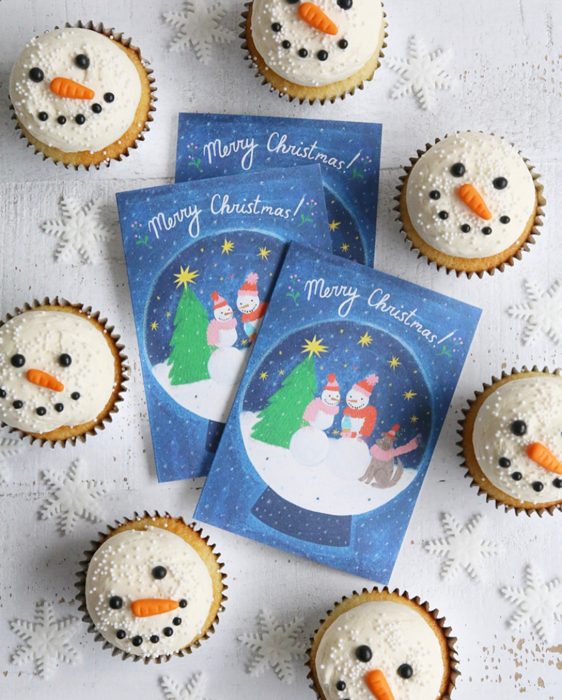 Merry Christmas Snowpeople Cards