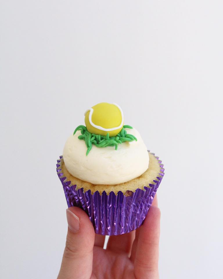 Single Tennis Ball Cupcake