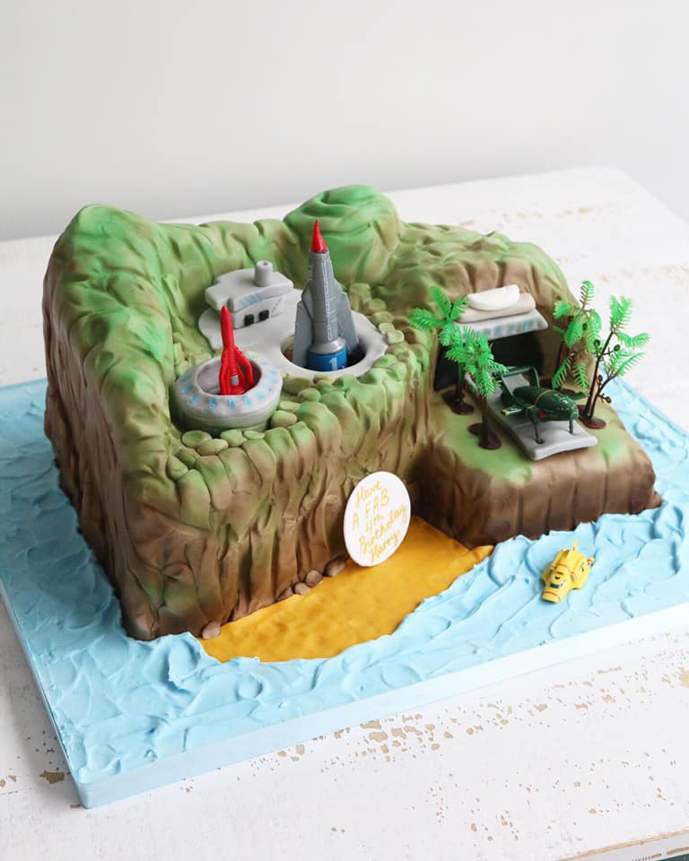 Fondant Tracy Island Thunderbirds Cake