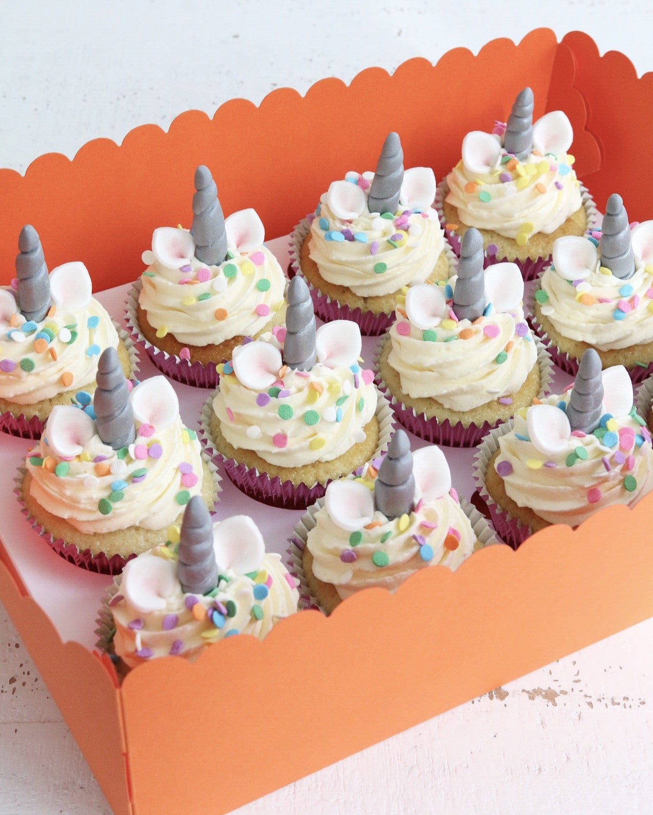 Box of Unicorn Cupcakes