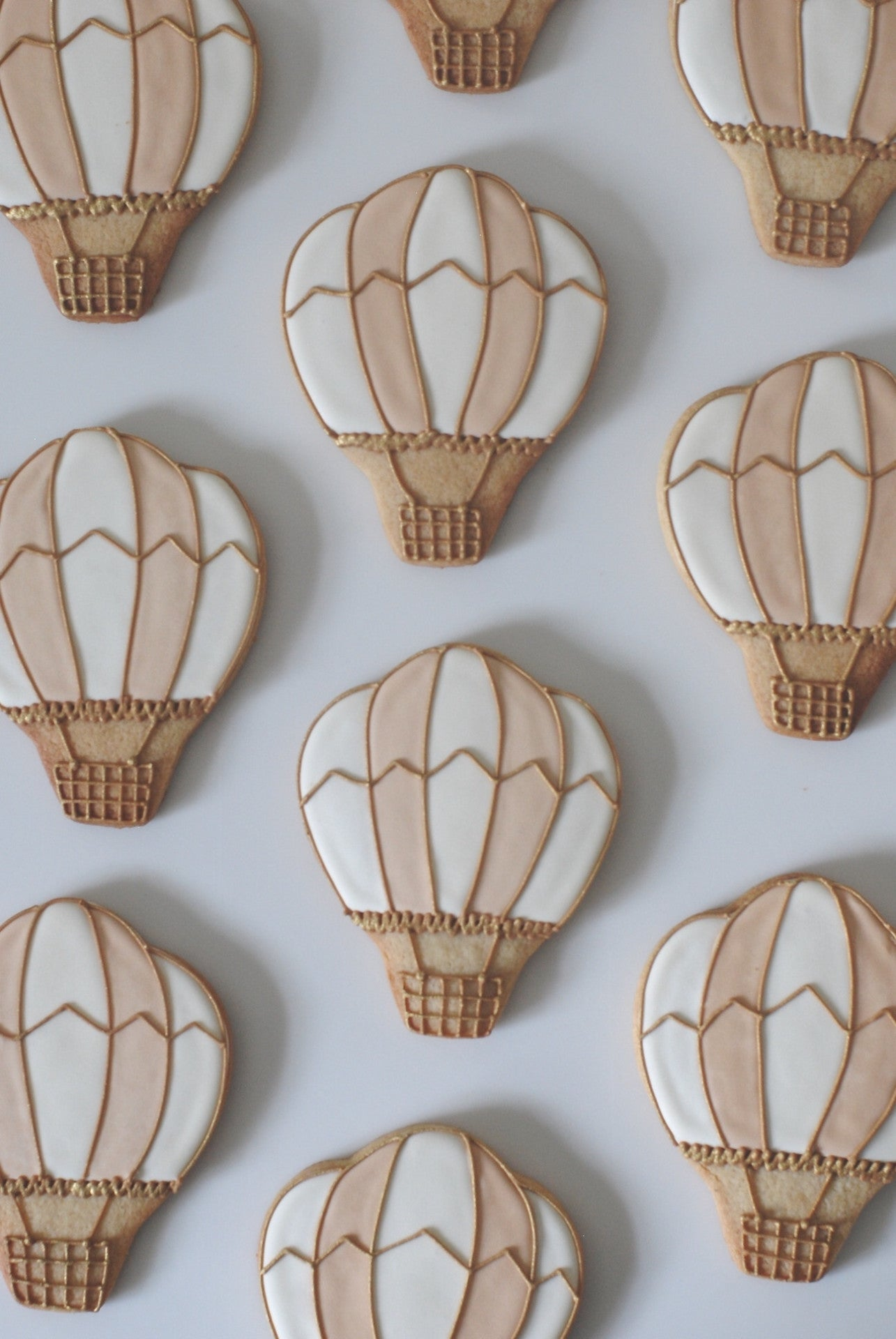 Hot Air Balloon Wedding Favour Biscuits