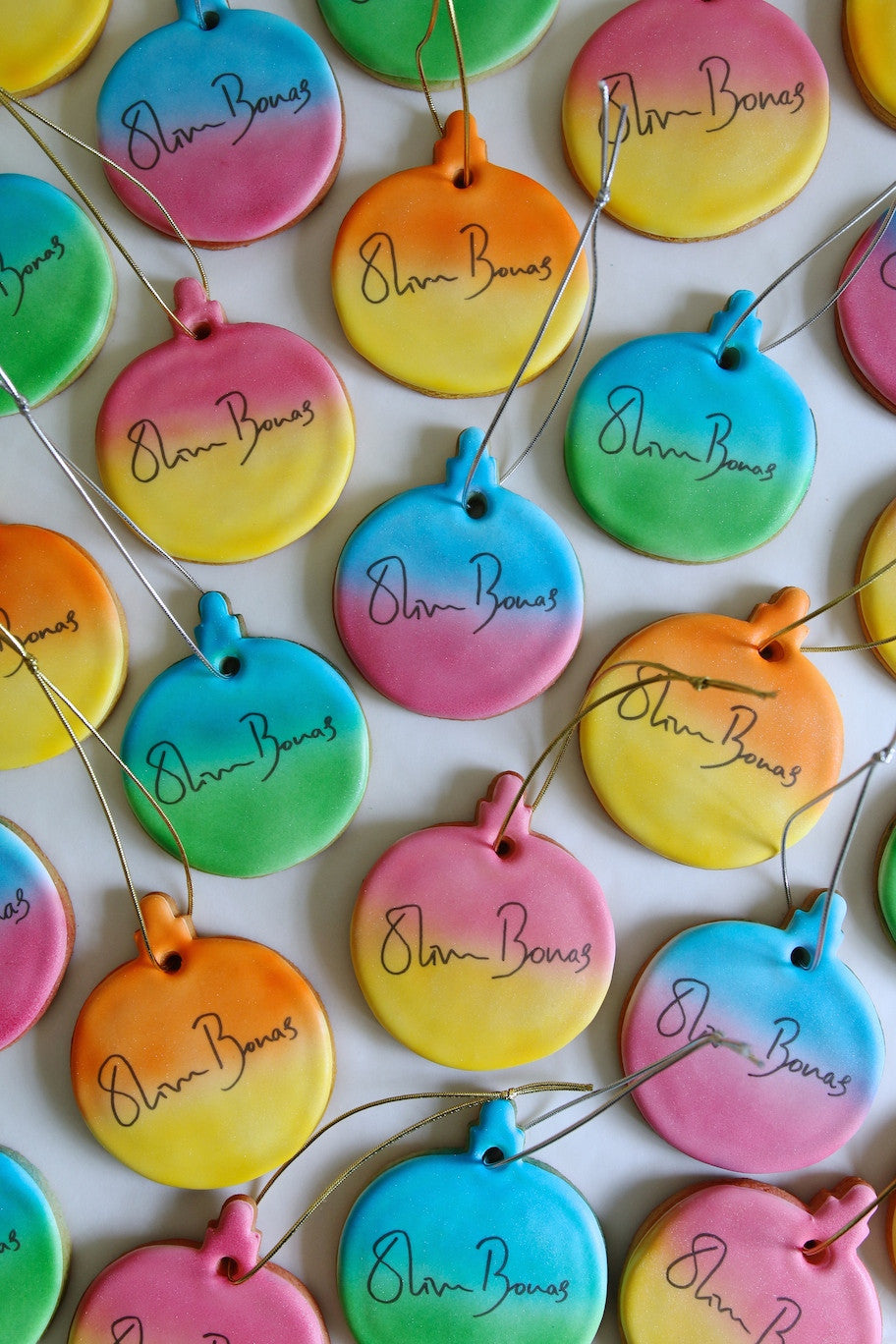 Oliver Bonas Branded Christmas Bauble Biscuits