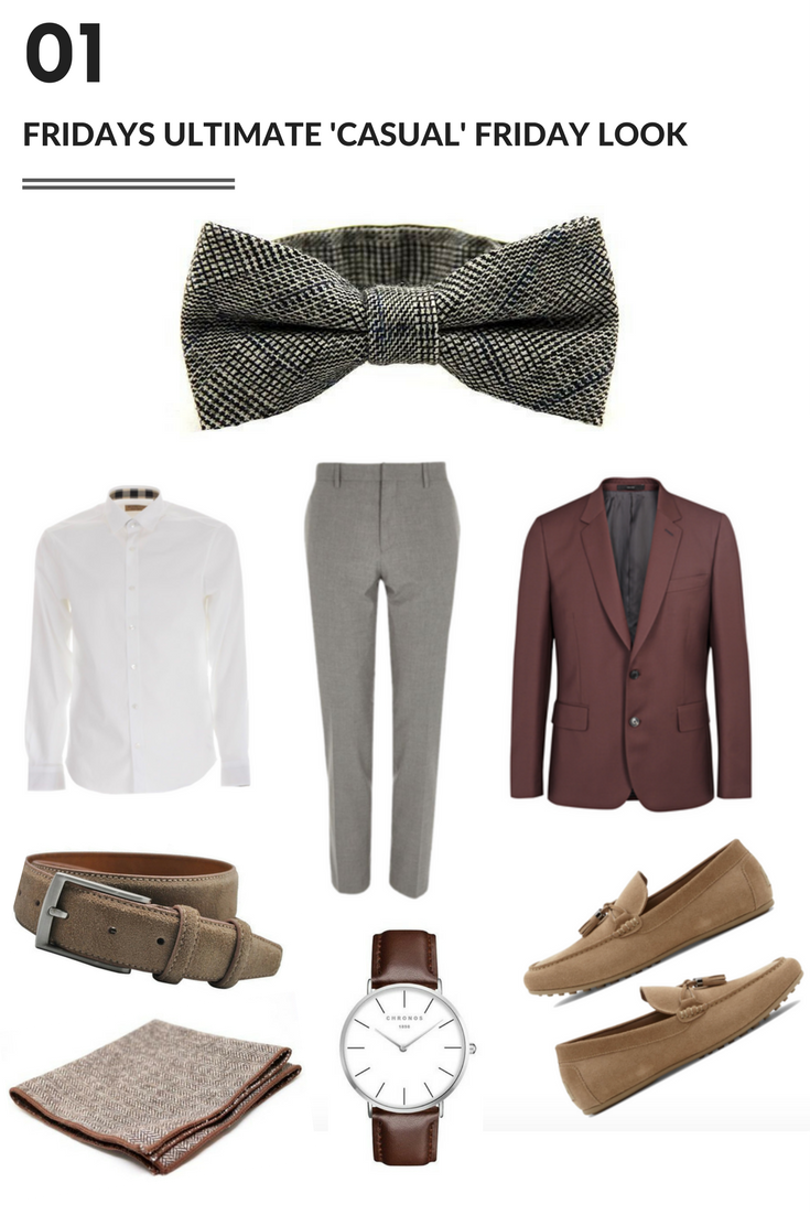 the ultimate casual friday look with a bow tie - Modern Man Outfitters