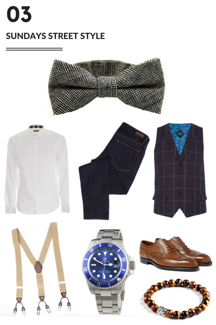 Sundays Street style with a bow tie - Modern Man Outfitters