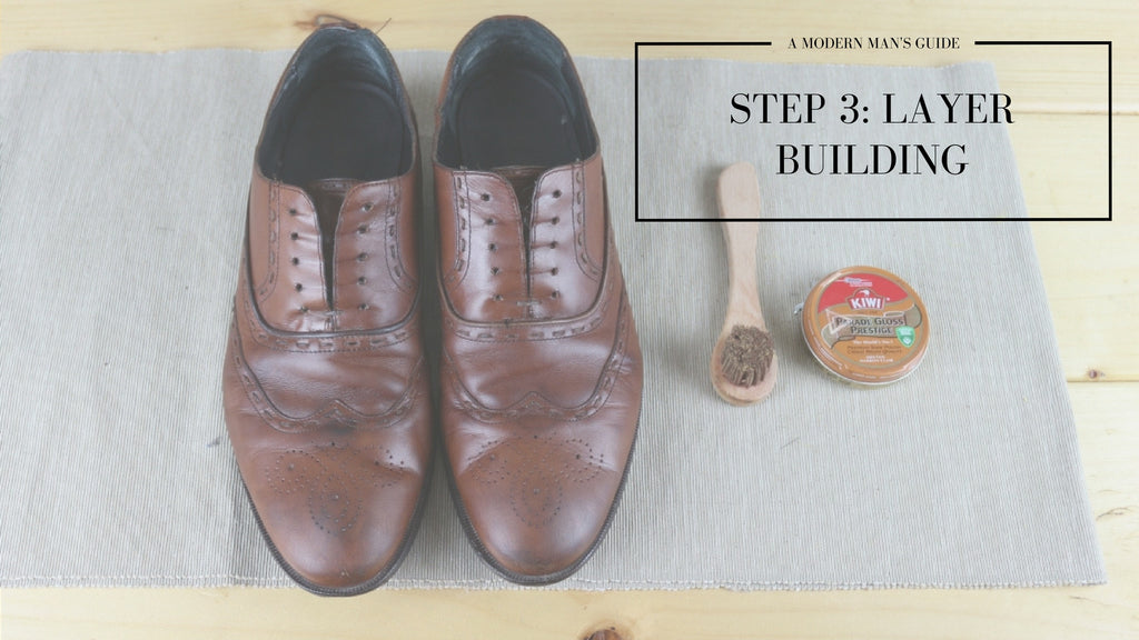 Step three - Mens shoe polishing guide - Men's Accessories