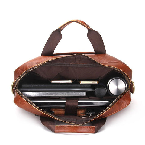 luxury leather work bag - modern man outfitters