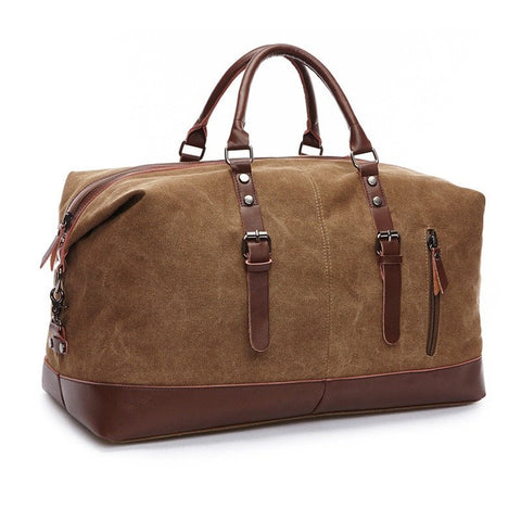 luxury canvas duffle bag - modern man outfitters