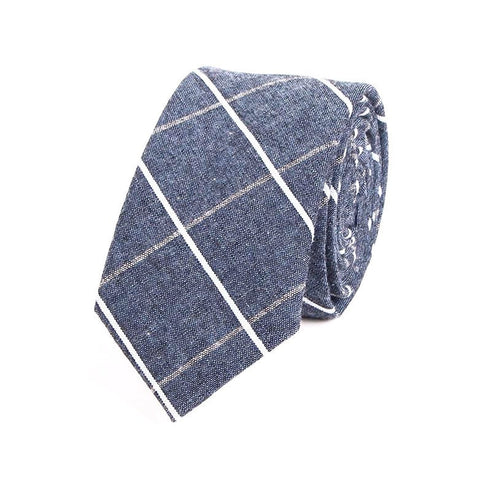 Men's Blue Check Tie - Modern Man Outfitters Men's Accessories