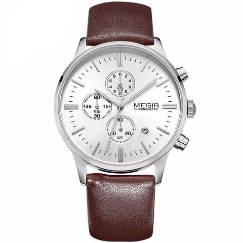 Mens Brown Leather Watch - Modern Man Outfitters Men's Accessories