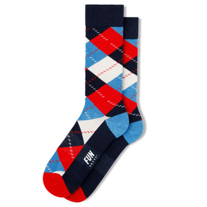 Fun Socks Argyle Men's Crew Socks, Men's Socks - Men's Accessories available at Modern Man Outfitters