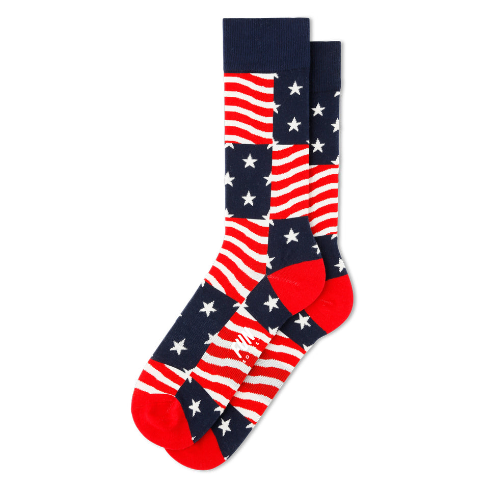 Fun Socks Stars and Stripes Men's Socks, Men's Socks - Men's Accessories available at Modern Man Outfitters