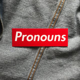 Pronoun Sticker - Double Denim Dude