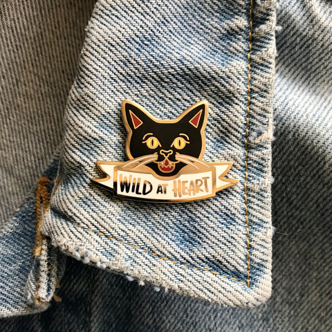 Wild at Heart/ Find Pickle enamel pin - Double Denim Dude