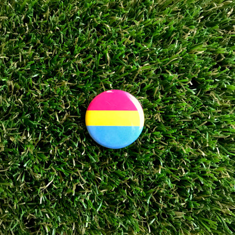 Pansexual Pride button - Double Denim Dude