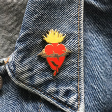 Jelena Wolves x Double Denim Dude--Sacred Heart enamel pin