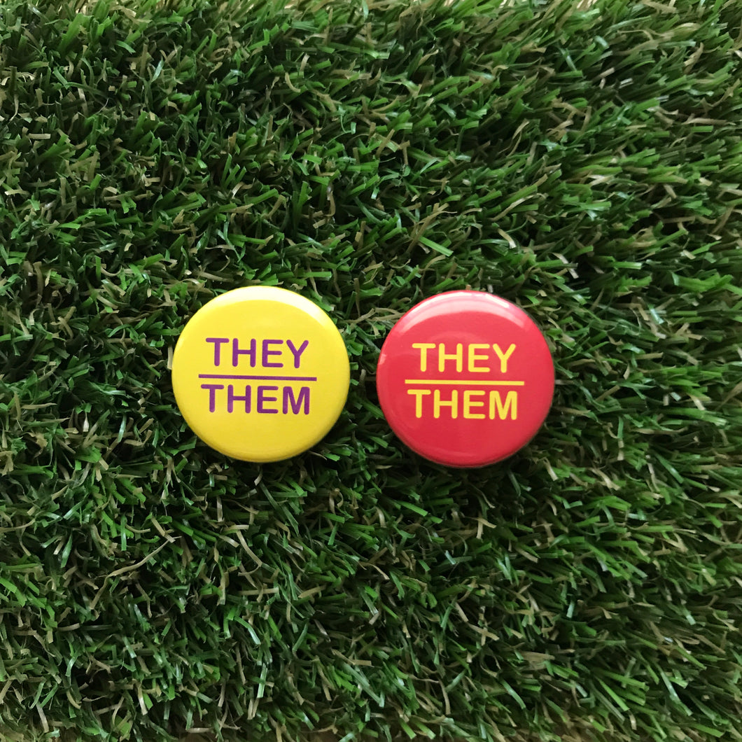 They/Them buttons