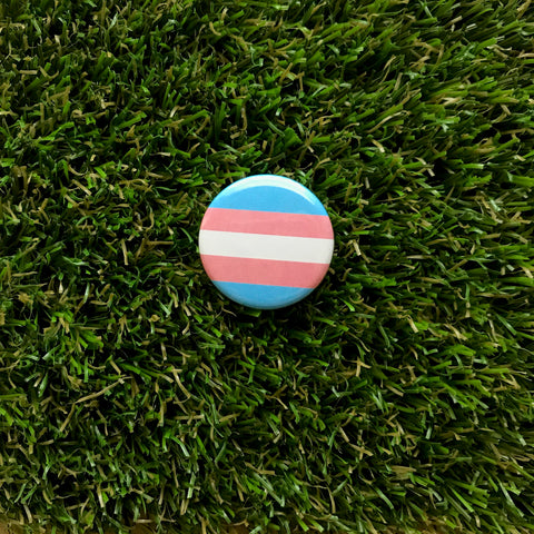 Transgender Pride button - Double Denim Dude