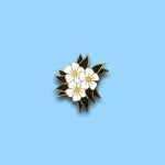 White Flower enamel pin - Double Denim Dude