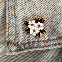 White Flower enamel pin