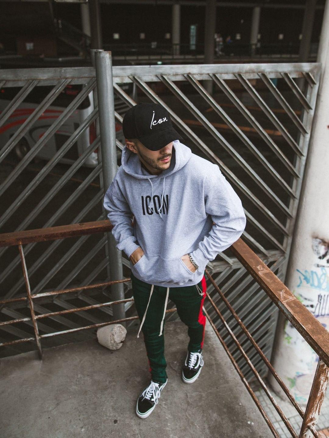 ICON Oversized Hoodie - Grey and Black
