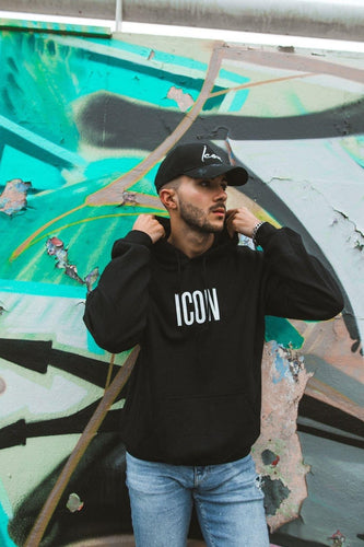 ICON Oversized Hoodie - Black and White