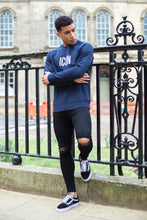 ICON Fitted Sweatshirt-Navy