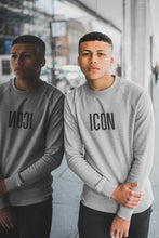 ICON Fitted Sweatshirt-Grey
