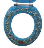Trimmer ® decorative toilet seat with dolphins and coral in blue ocean