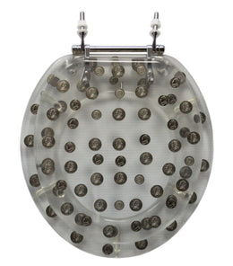Trimmer ® Polyresin Toilet Seats With Replica Coins