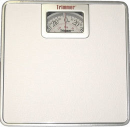 Premium Silver Frame Mechanical Scale with Square Display - Bodyweight Weighing Scale with Non-Skid No Slip Surface for Home, Gym, Fitness