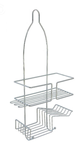 ATHome Trimmer Chrome Shower Caddy with Soap Dish