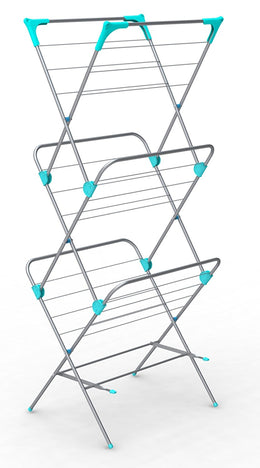 ATHome High Capacity Collapsible 3-Tier Clothes Drying Rack