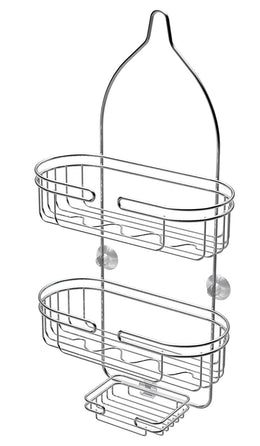 ATHome Chrome-Plated Steel Shower Caddy with Soap Dish,  2-Level
