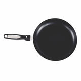 Gourmet Chef Non-Stick Scratch Resistant Easy to Clean Fry Pan Induction Ready Stainless Steel Base With Extra Thick Aluminium Alloy Body Riveted Bakelite Handle, 10 inch, Blac