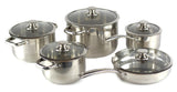 Gourmet Chef 10 Piece Stainless Steel Cookware Set