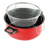 Gourmet Chef JL-5303K Non-Stick Deep Fryer with Frying Basket and Glass Cover, 4.5-Quart, Black