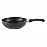 "Gourmet Chef Stir Fry Wok With Bakelite Riveted Handles - Easy Clean Deep Frying Pan, 10"", Black"