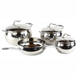 Gourmet Chef Designer Pro Series 7-Piece Stainless Steel 3-Ply Base Apple Design Cookware Set