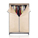 ATHome Lightweight, Durable, Sturdy, Dust and Moisture Proof, Easy Open T-Zipper, Portable Closet Wardrobe, 36 inches, Beige