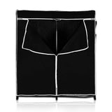 ATHome Lightweight, Durable, Sturdy, Dust and Moisture Proof, Easy Open T-Zipper, Portable Closet Wardrobe, 60 inches, Black