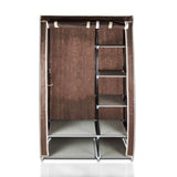 ATHome Lightweight, Durable, Sturdy, Dust and Moisture Proof, Easy Open T-Zipper, Portable Closet Wardrobe, 40 inches, Chocolate
