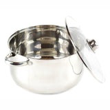 Gourmet Chef 8-Quart Stainless Steel Stock Pot with Glass Lid Kitchen Basics For Home and Restaurants - Large Stockpot with Capsulated Base, Vented Hole on Cover, and Non-heat Riveted Handles