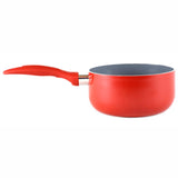 Gourmet Chef 1.6 Fluid Quart Red Ceramic Eco-Friendly Non-Stick Scratch Resistant Dishwasher Safe Saucepan Cookware - Heavy Gauge Pans For Home and Restaurants Non-Toxic PTFE and PFOA Free